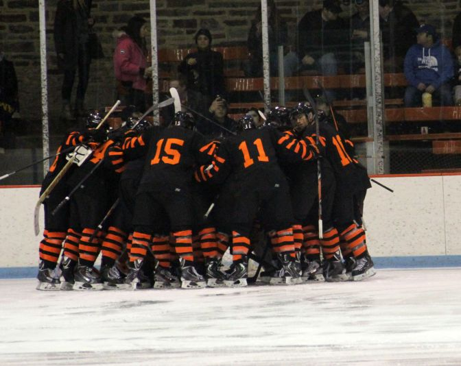 Princeton team huddle