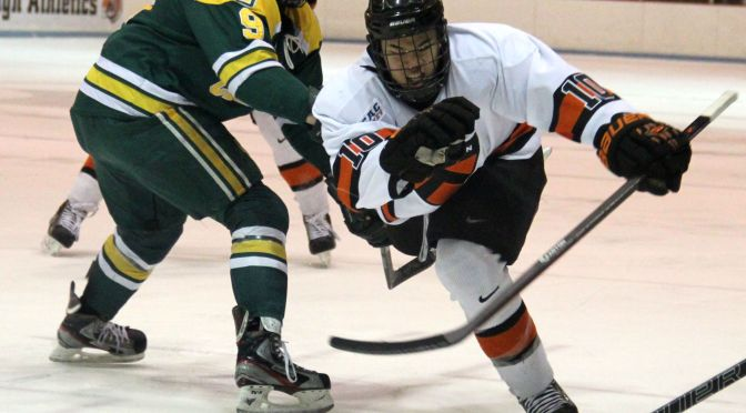 Slow First Period Dooms Princeton In Loss To Clarkson