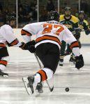 Princeton's Joe Grabowski breaks the puck out of his zone