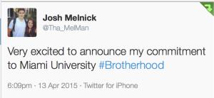 Melnick tweet